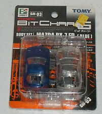 Tomy Tomica Bit Char-G MAZDA RX-7 FD Car Body Blue NEW GM-03