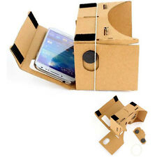 DIY Cardboard Quality 3D VR Virtual Reality Glasses For Google iPhone Samsung