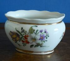 "Small hand painted porcelain studio oval vase in Dresden flowers style ""GA"" 1928"