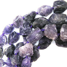 "20-25mm amethyst freeform nugget beads 16"" strand"