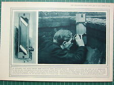 1915 WWI WW1 PRINT PERISCOPE FIELD-GLASSES USE IN OBSERVATION ARTILLERY OFFICERS