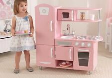 KidKraft Vintage Kitchen Pink Wooden Pretend Play Children Kids Life Like New