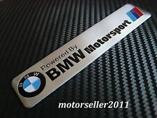 3D Aluminium Powered By Motorsport Logo Decal Badge Sticker Emblem Fit For BMW