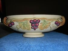 WELLER ROMA CONSOLE VASE ANTIQUE 1914-1920 ARTS & CRAFTS MOVEMENT POTTERY GRAPES