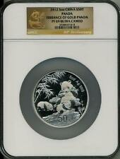 2012 5 oz  SILVER CHINA PANDA ISSUANCE OF GOLD NGC PF 69 UCAM 30th ANNIVERSARY