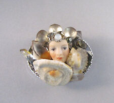 "Vintage Blyther & Snodgrass Brooch ""The Queen of the Rock Crystal Mountain"" 1986"