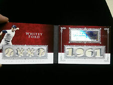 2008 Topps Sterling Whitey Ford Auto Booklet 8 Piece Relic