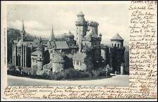1899 Stempel CASSEL auf alter AK KASSEL Löwenburg Partie Burg Castle Postcard