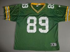 Green Bay Packers #89 Mark Chmura SEWN Starter NFL Football Jersey Adult 54 NICE