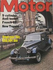 Motor magazine 9/7/1977 featuring Audi road test, Panther De Ville, Rolls Royce