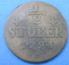 Deutsches Reich Jülich-Berg 1/2 stuber 1794 PR. KM#206
