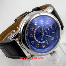 43mm corgeut blue dial date GMT leather strap Automatic mens wirst Watch 37
