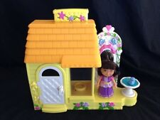 Fisher Price Dora the Explorer Talking Play set House With Dora Figure GUC