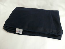 "Navy Blue Airline Blanket Spirit Fleece 38x59"" New Airplane Flight Travel Throw"