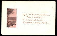 POSTCARD LETTERS COME AND LETTERS GO GREETING
