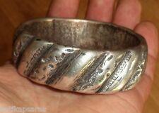 227g Argent Ancien Bracelet Berbere Maroc Antique Ethnic Morocco Silver Bangle