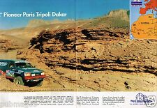 Publicité Advertising 1990 (2 pages) Rallye Pioneer Paris Tripoli Dakar TSO