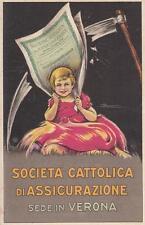A3063) SOCIETA' CATTOLICA DI ASSICURAZIONI, SEDE IN VERONA. ILL. BUSI. VIAGGIATA