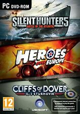 Silent Hunters 5 & Heroes Over Europe & Cliffs of Dover (PC-DVD Computer) NEW