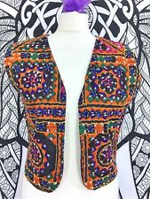 FABULOUS EMBROIDERED WAISTCOAT TOP JACKET SIZE 14 M / L  BOHO NEW HIPPIE COAT