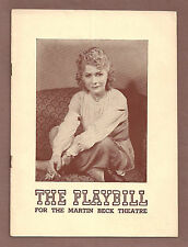 """Gladys George """"LADY IN WAITING"""" Alan Napier / Antoinette Perry 1940 Playbill"""