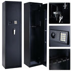 New 5 Rifle Electronic Lock Gun Storage Safe Cabinet Firearm Steel Lockbox Case