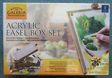 Winsor & Newton Galeria Artists Acrylic Painting Wooden Box Easel Gift Set