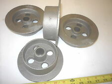 4  OLD STYLE MINING  ORE  CAR  SMALL TRACK   MINE   CART  WHEEL CAST IRON