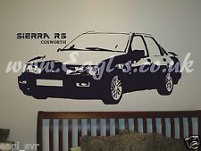 Vinyl wall art Sierra RS Cosworth car inspired decal. track day XXL