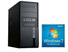 PC COMPLETE Computer Intel Quad Core 8GB RAM 1000GB USB 2.0 3.0 - Win7 Prof