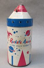 scarce 1950's Fuller Brush ROCKETS AWAY! Bubble Bath container rocketship