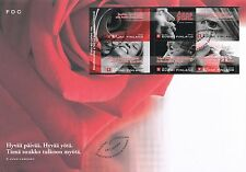 Finland 2004 FDC Sheet - With Friendship - Valentine - Juice Leskinen's Songs