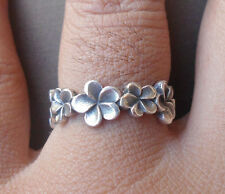 New-925 Sterling Silver Balinese Frangipany Ring size 5 fpr2