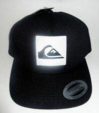 MENS QUIKSILVER BLACK HAT SNAPBACK ADJUSTABLE CAP ONE SIZE