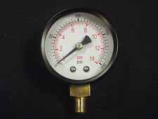 Pressure Gauge 1/8 BSP Bottom Entry 50mm dial 0-200 psi                     b230