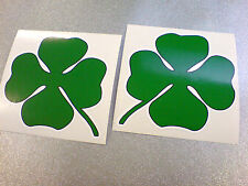FOUR LEAF CLOVER Cloverleaf Car Race Rally Stickers Decals 2 off 100mm