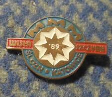 POLAND KATOWICE SKI UNION REGIONAL CHAMPIONSHIPS JUNIORS SZCZYRK WISLA 1989 PIN