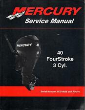 2010 MERCURY OUTBOARD 40 FourStroke 3 Cyl. P/N 90-899974 SERVICE MANUAL (443)