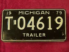 T 04619 = 1979 Michigan Trailer license plate   Additional items ship FREE IN US