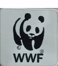 WWF PANDA LOGO Patch Animal Patch EMBROIDERED Iron on/Sew on PATCH