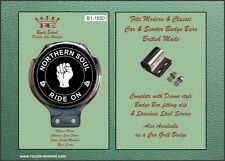 Royale Car Scooter Bar Badge - NORTHERN SOUL RIDE ON - B1.1550