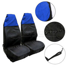 2x Universal Car Seat Cover Front Waterproof Van Auto Vehicle Protector Blue
