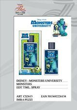 MONSTERS UNIVERSITY DISNEY PROFUMO PER BAMBINI  EDT EAU DE TOILETTE 75 ML. ATO