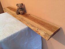 (81)  Wandboard  Massivholz Steckboard Board Regal Baumkante Wandregal 100 cm