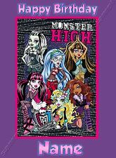 - MONSTER HIGH - IDEAL FOR DAUGHTER FRIEND PERSONALISED CHILDREN'S BIRTHDAY CARD