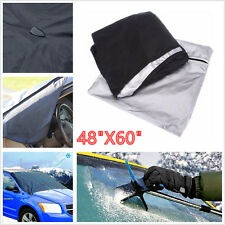 Black Waterproof Car SUV Front Windshield Window Snow Ice Frost Protection Cover