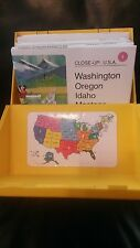 National Geographic Close-Up U.S.A. Vintage Box Set of USA Maps, Guide Book