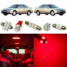 8x Red LED lights interior package kit for 1993-1997 Honda Accord HA4R
