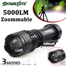 5000LM CREE Q5 AA/14500 3 Modes ZOOMABLE LED Flashlight Torch Super Bright