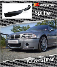 CARBON FIBER FRONT SPOILER SPLITTERS SET for BMW E46 M3 COUPE CSL BUMPER ONLY